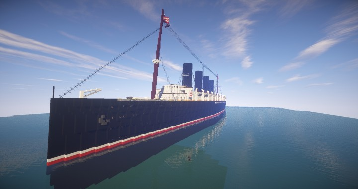 Rms Lusitania 1915 Outdated Minecraft Project