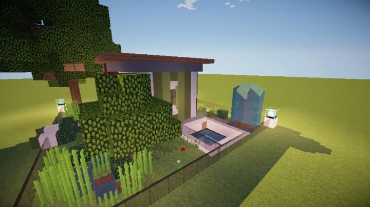 Casa moderna 2 interior editable 2 pisos minecraft project for Casa moderna 2 pisos