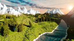 -TheFireMountains- Fantasy Landscape 150 subs special Minecraft Project