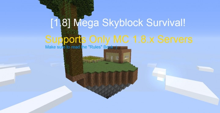 1 8( x)] Mega Skyblock Survival! Minecraft Project
