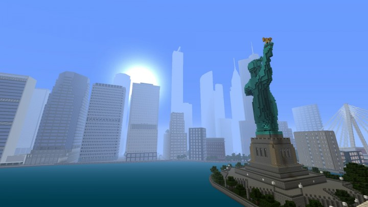 Statue of Liberty and Midtown