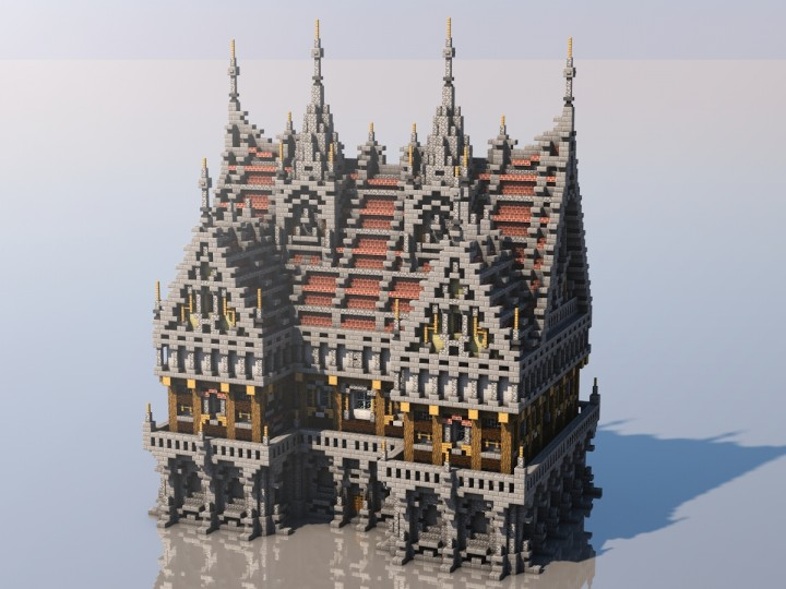 Medieval Mondays 4 Town Hall Minecraft Project