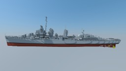 USS Kidd DD-661 (Fletcher-class Destroyer) 4:1 Minecraft Project