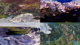 [Download+Cinematic] Custom Biome Terrain Map [4kx4k] [WorldPainter/WorldMachine] Minecraft