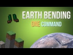 Minecraft - Earth bending in one command! Minecraft Map & Project