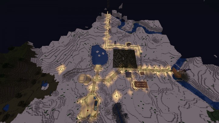 Birds eye view of part of map