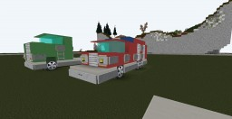 Fire Truck - LD modern - By: Rolfaal Minecraft Map & Project