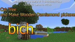 (parody)how to cut a tree and make a diamond wooden pickaxe Minecraft