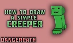 How to Draw a SIMPLE Cartoon Creeper Minecraft Blog