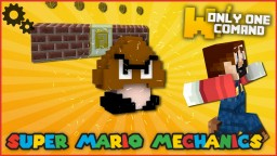 Super Mario mechanics with only one command block Minecraft