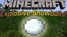 How to make exploding snowballs when you throw them (only 2 commands) Minecraft Blog Post