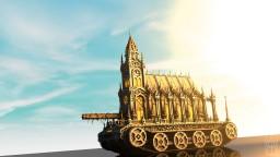Random tank with a gothic church on it