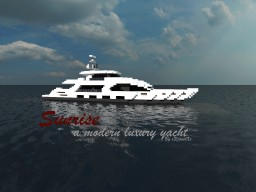 Sunrise - A modern luxury yacht by xXjoostXx Minecraft Map & Project