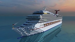 Carnival Conquest [1:1 Cruise ship][Full Interior] Minecraft Map & Project