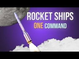 Rocket Ships in one command! Minecraft