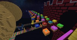 """""""Extreme_RainbowRoad_MC-Edition 2""""  (Speed Parkour Map) Minecraft Map & Project"""