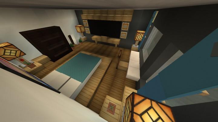 Furniture modern bedroom design minecraft project for Minecraft bedroom designs
