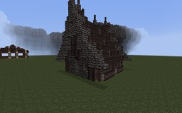 Little Hut. To the little city (with first boss) Minecraft