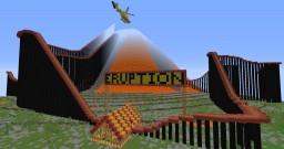 ERUPTION (A minecraft roller coaster) Minecraft