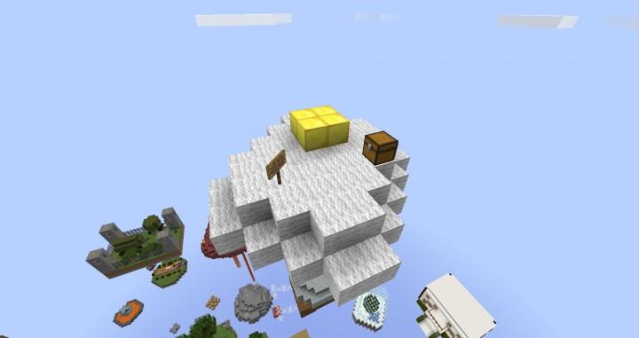 Skyblock, It's blocks up in the skies sue me