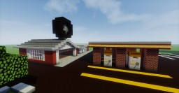 Gas Station + Tire Service Center Minecraft Map & Project