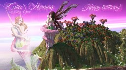 Calla's Morning (Birthday Dedication)(Custom Terrain 512x512)(Fantasy Organic Floral Humanoid)(Pop Reel) Minecraft