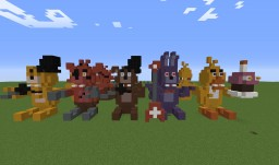 """Five Nights at Freddy's """"Plushies"""" 3D Figures Minecraft Map & Project"""