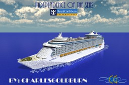 Independence of the Seas 1:1 Scale Cruise Ship [+Download] Minecraft Map & Project