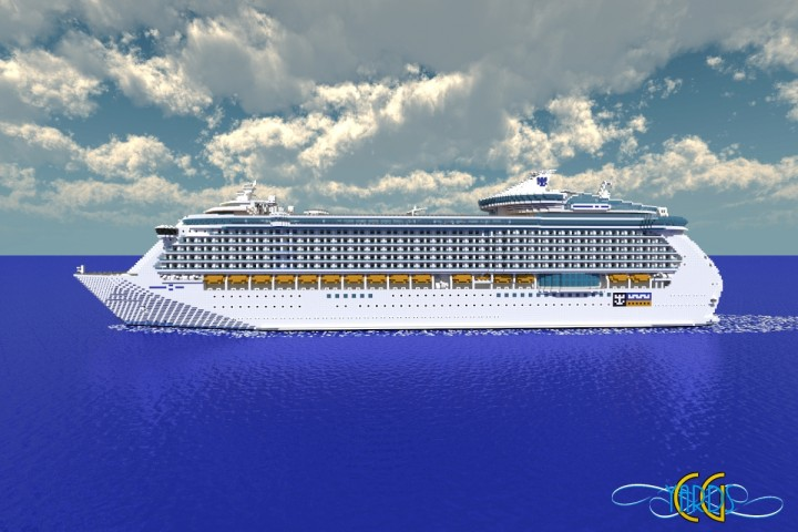 Independence Of The Seas Scale Cruise Ship Download - Port side of a cruise ship