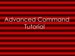 Advanced Command Tutorial Minecraft Blog Post