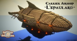 Carrier L'épaulard  【Steampunk Airship】 Download+ Minecraft Map & Project