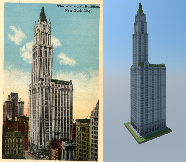 Minecraft Street: Woolworth Building (full Scale) Minecraft Project
