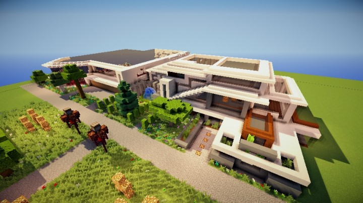 maison futuriste de la premiere minecraft project