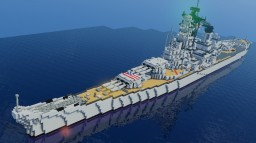 USS BB-62 New Jersey Minecraft Map & Project