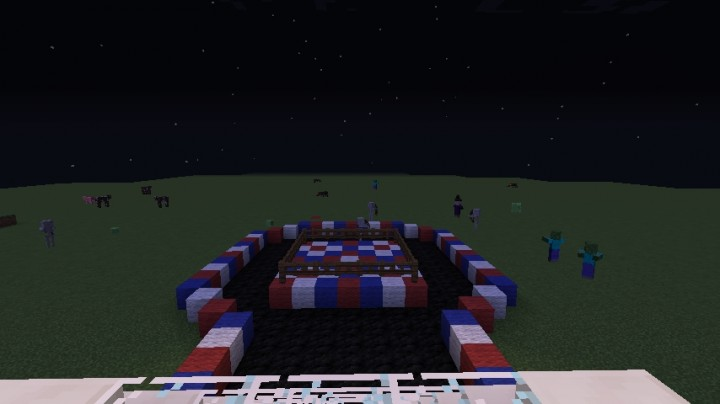 how to make a wwe ring in minecraft