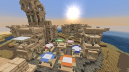 Added a village nearby my desert city Minecraft Map & Project