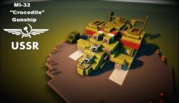 "MI-32 ""Крокодил"" Heavy Gunship Minecraft Map & Project"