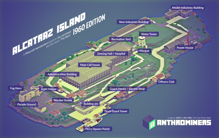 Alcatraz Prison Map