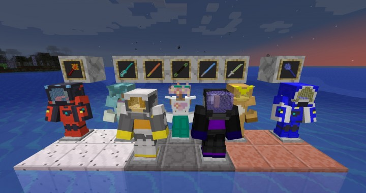 Now with 1.8 Pixelmon! Here are some new armors and swords.