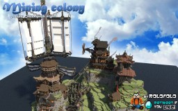 [Asian themed Steampunk] Mining colony Minecraft Map & Project
