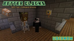 ⌚Better Clocks⌚ with two command blocks Minecraft Project