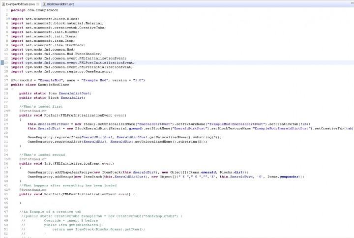 modding tutorial forge better example mod minecraft blog