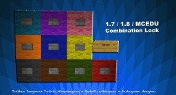 4 Pin Combination lock 1.7 / 1.8 Minecraft EDU Compatible