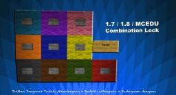 4 Pin Combination lock 1.7 / 1.8 Minecraft EDU Compatible Minecraft Project