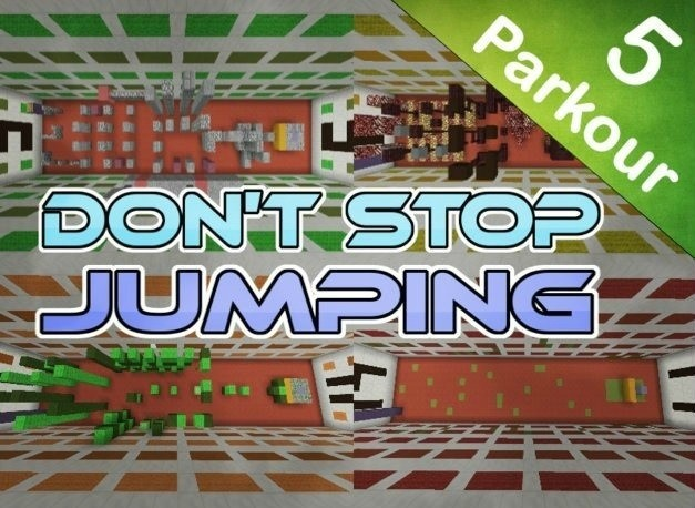 dontstopjumpingreal8933876 [1.8] Don't Stop Jumping Parkour Map Download