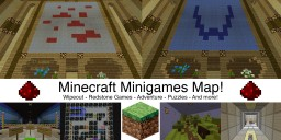 Minecraft Minigames Map! | Wipeout - Redstone Games - Adventure - Puzzle - And more!
