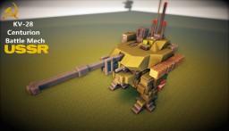 KV-28 центурион Medium Battle Mech Minecraft Map & Project
