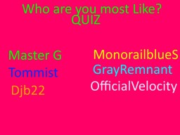 Who are you most like? Quiz Minecraft Blog Post