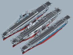 WW2 USS CV Yorktown Class (Remake) Minecraft