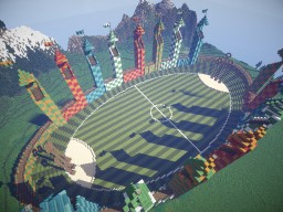 Quidditch pitch - the universe of Harry Potter!